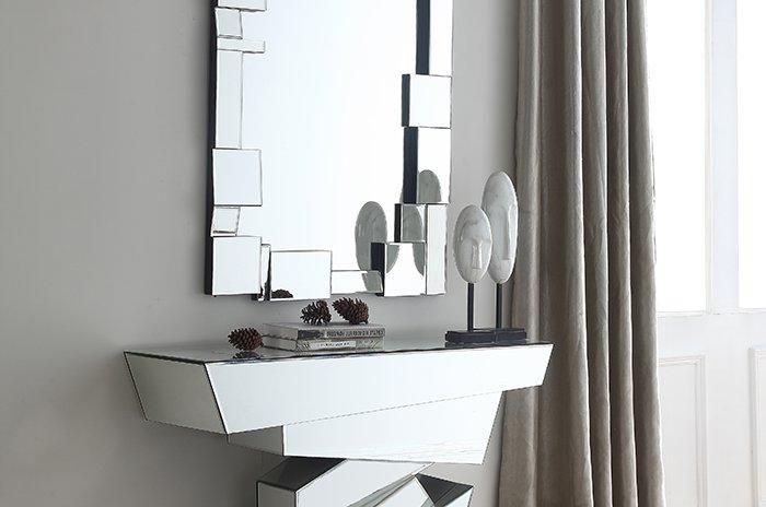 Jade mirrored console / hanging mirror