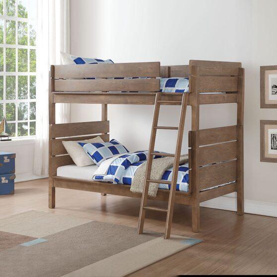 Antique oak twin/twin bunk bed