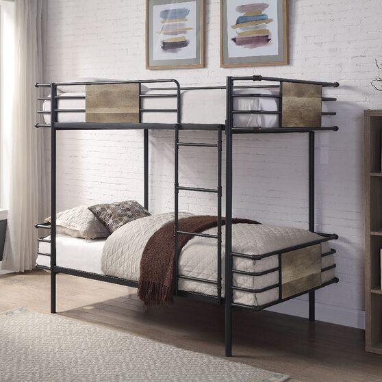 Gunmetal twin/twin bunk bed
