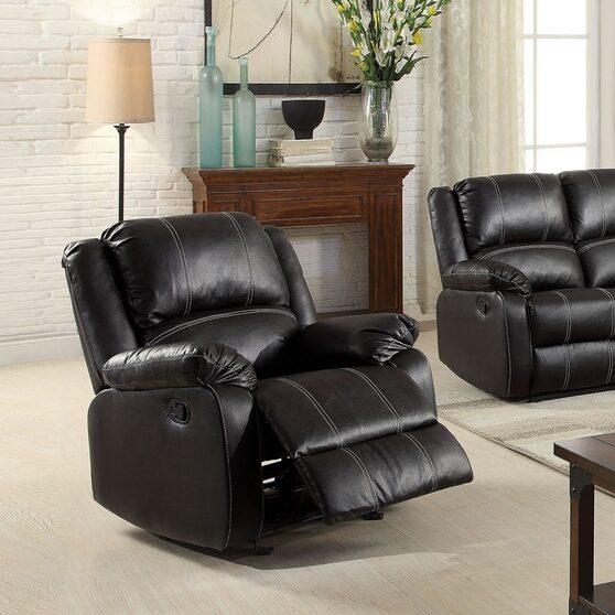 Black pu rocker recliner