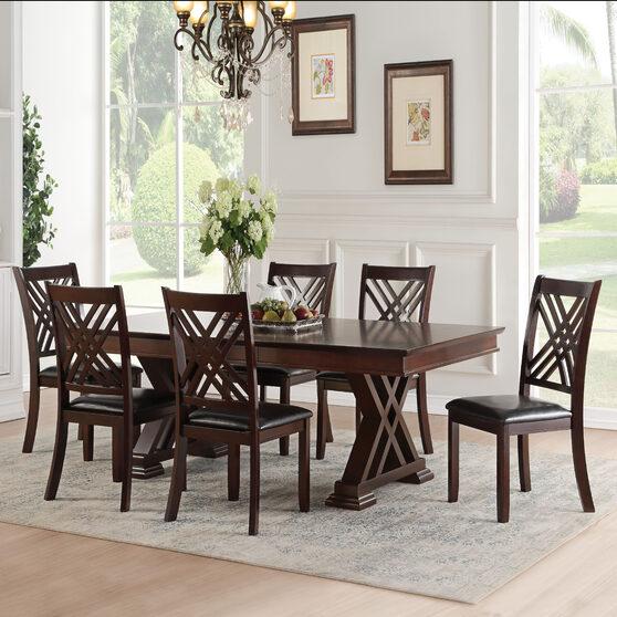Espresso finish dining table