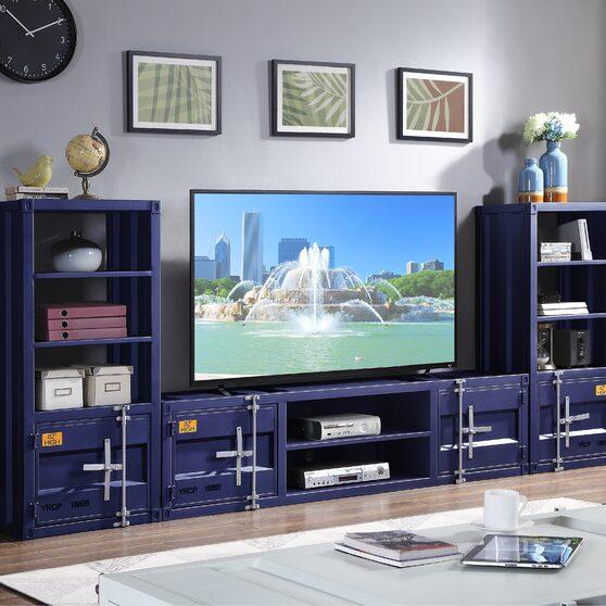 Blue finish entertainment center