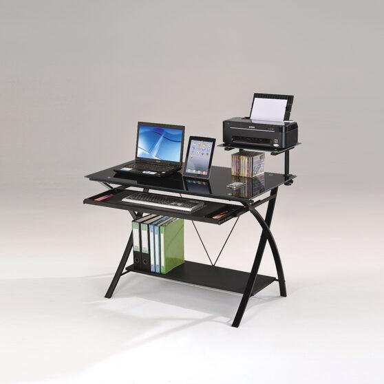 Black finish computer desk