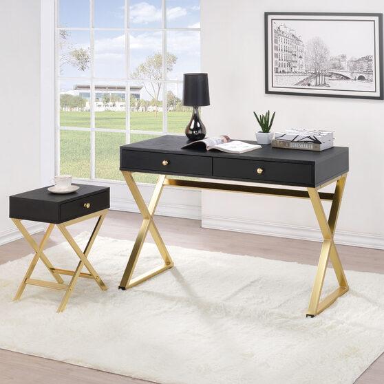 Black & brass finish coleen desk