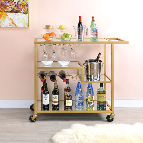 Champagne & mirror serving cart