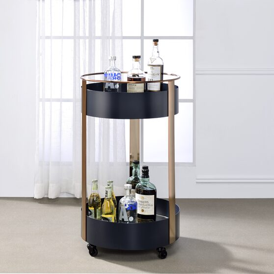 Onyx & copper serving cart