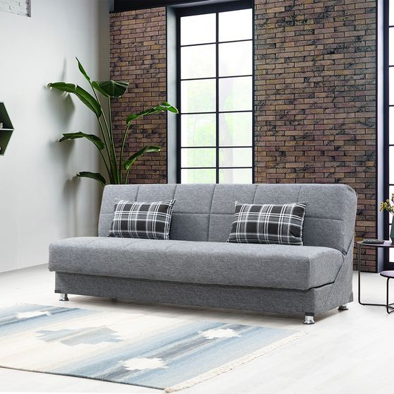 Microfiber modern gray sleeper sofa