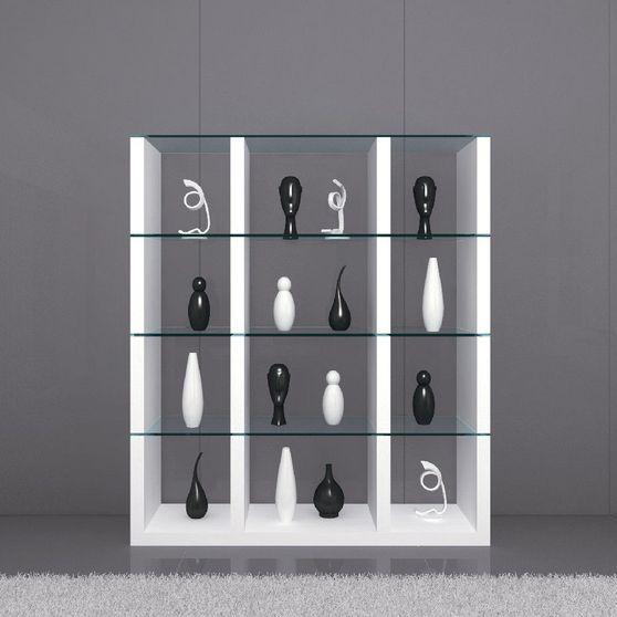 Modular white/glass wall-unit / display