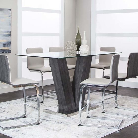Counter height style modern pub table + chairs set
