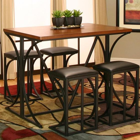 5pcs bar height set in casual style
