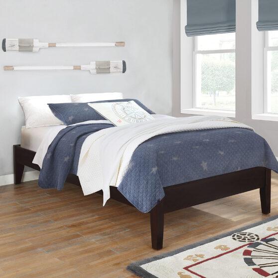 Cappuccino twin platform bed
