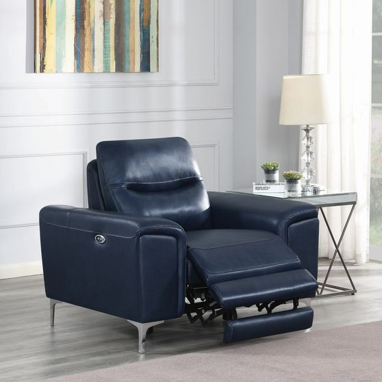 Power recliner chair in leather / pvc