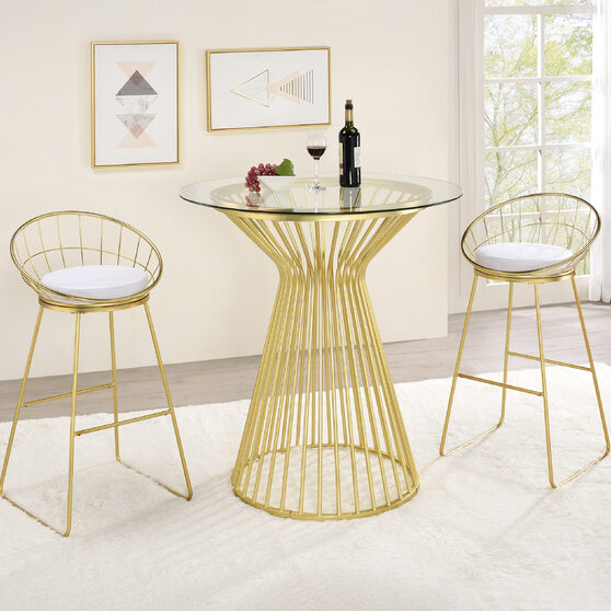 Clear tempered glass tabletop bar table