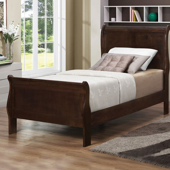 Cappuccino twin sleigh bed