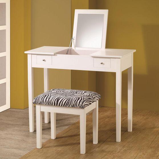 White vanity + stool set