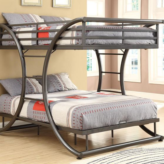 Metal full-over-full bunk bed