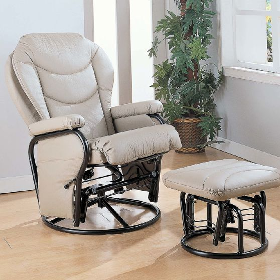 Glider Bone Chair + Ottoman