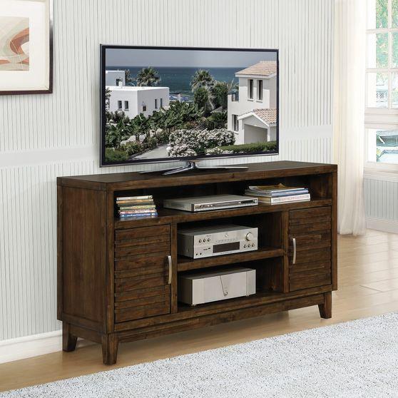 Tv console in rustic mindy veneer