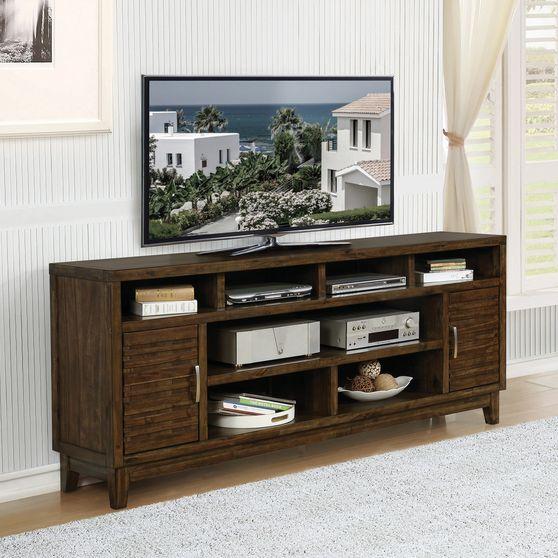 84-inch tv console in mendy brown veneer