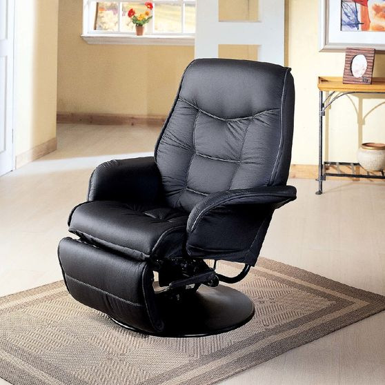 Black simple casual style recliner chair