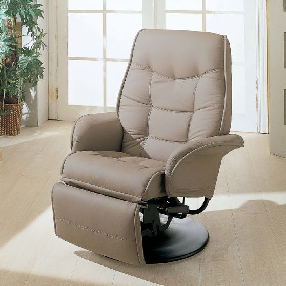 Beige leatherette recliner chair