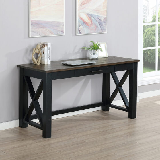 Rustic farmhouse style solid wood writing desk