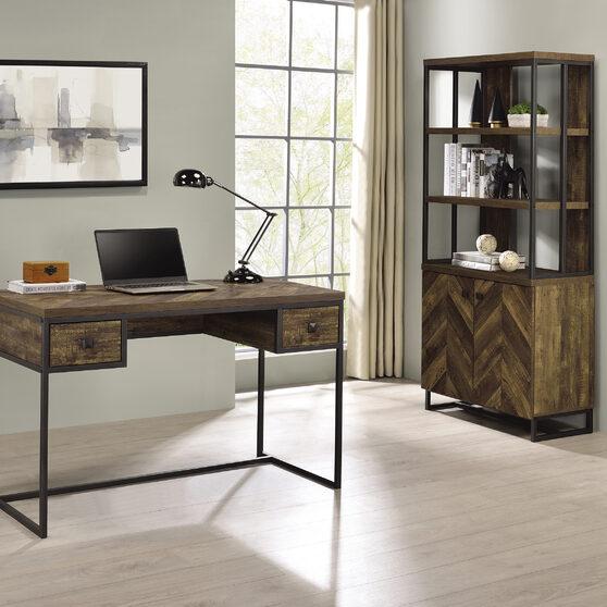 Sophisticated rustic oak finish writing desk