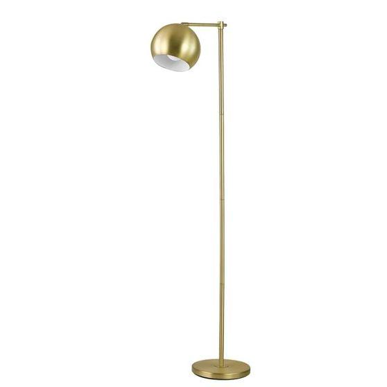 Modern brass floor lamp