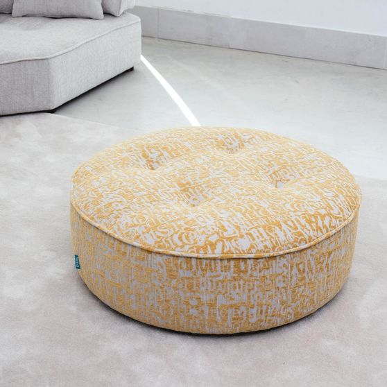 Two-toned ottoman