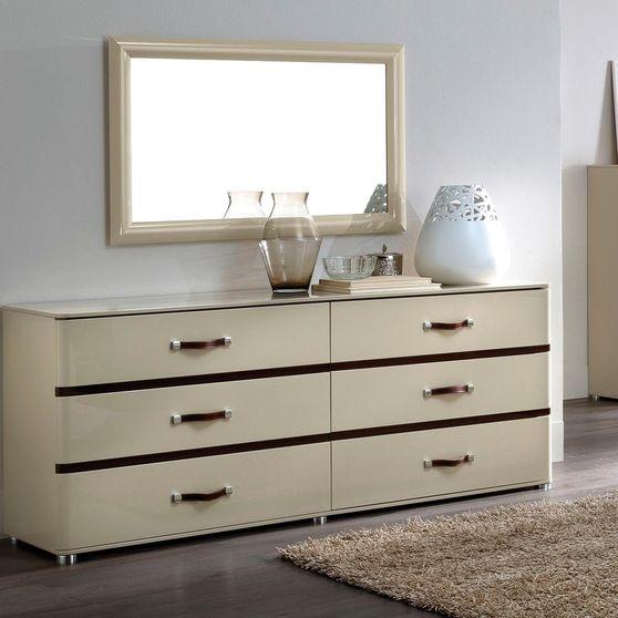 Beige color contemporary dresser