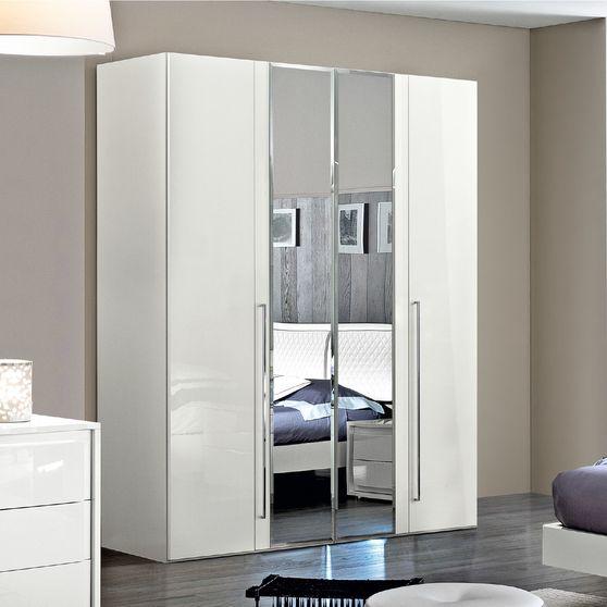 Modern white 4dr wardrobe