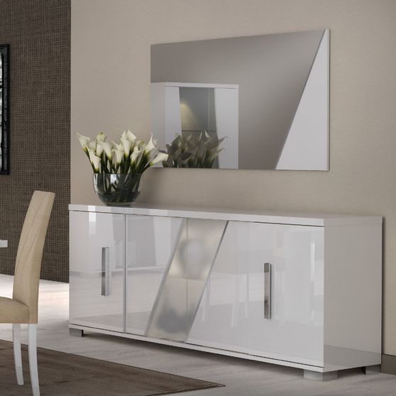 Modern Italy-made buffet/server in white