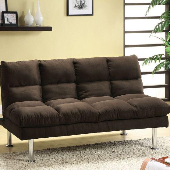 Espresso microfiber sofa bed
