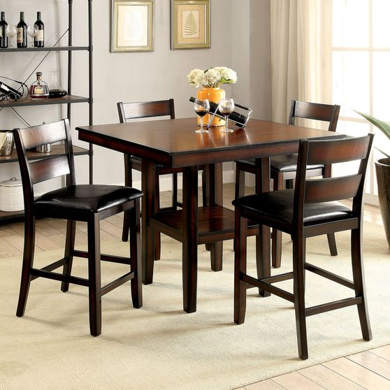 5pcs counter height dining set