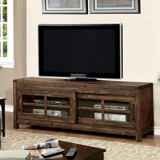 Country style oak finish TV Stand