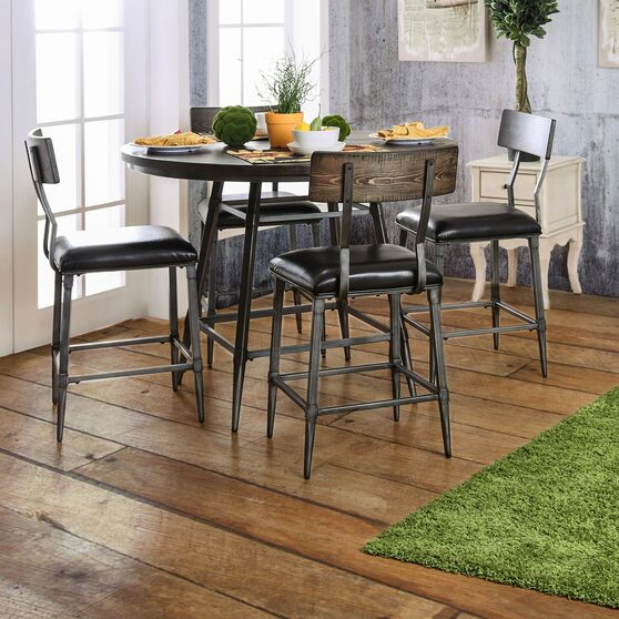 Weathered gray distressed top counter ht. table