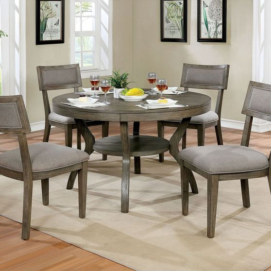 Solid wood / veneer gray contemporary dining table