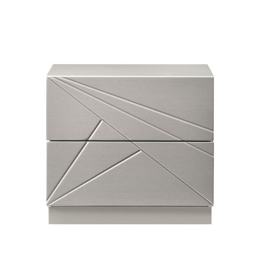 Florence night stand in taupe lacquer