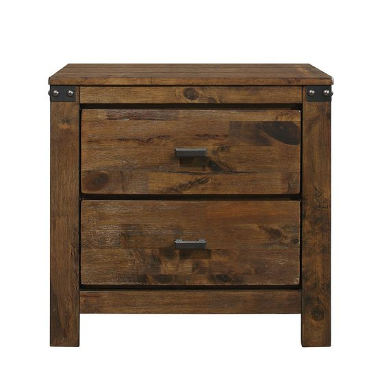 Warm rustic tone classical touch night stand
