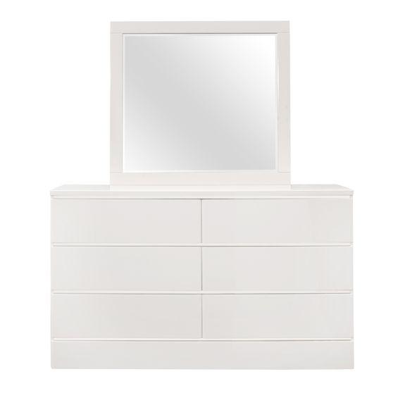 Casual style white rubberwood dresser