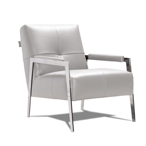 Light gray contemporary accent chair