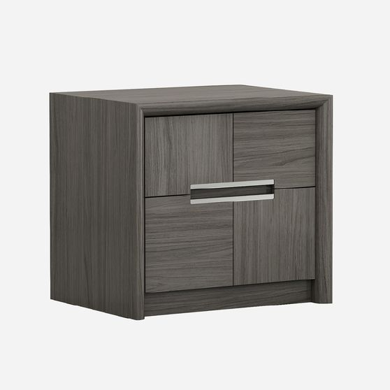 Gray / taupe laquer night stand