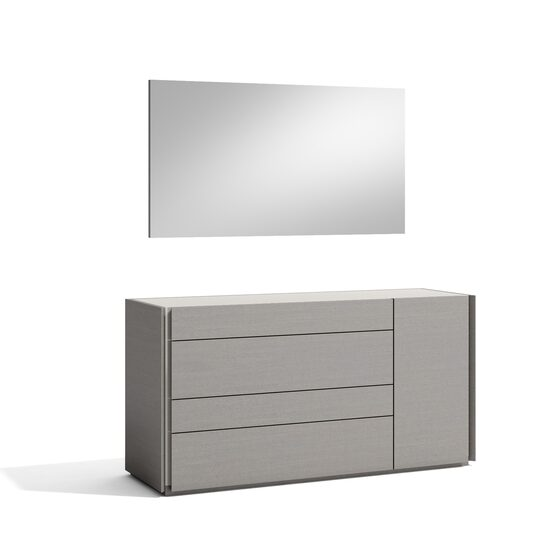 Modern gray finish dresser