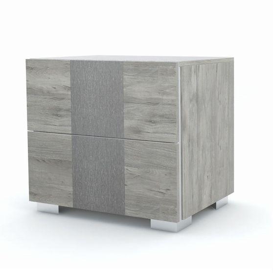 Italian-made modern gray finish night stand