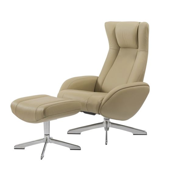 Recliner leisure lounger chair + ottoman set in nomad