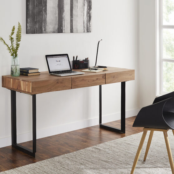 Modern office computer desk in natural