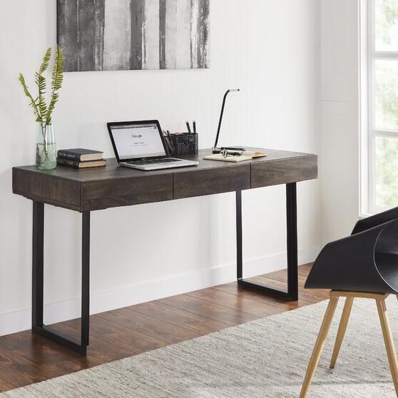 Modern office computer desk in olive