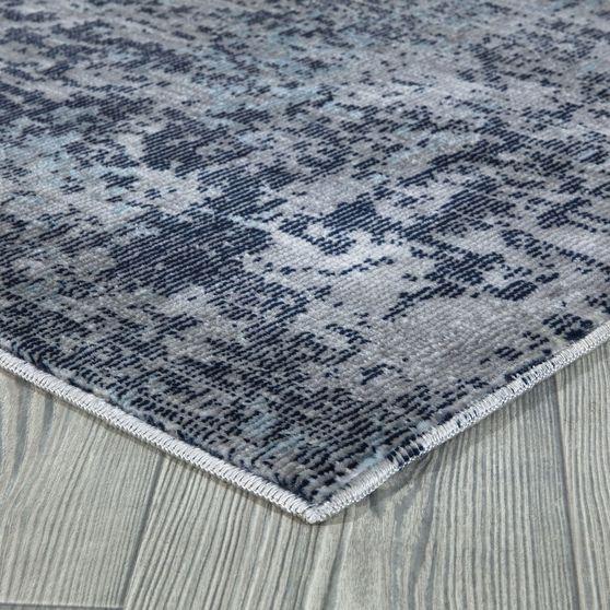 Mirage 5'2 x 7'2 Modern & Contemporary Abstract Navy/Gray area rug