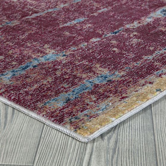 Mirage 5'2 x 7'2 Modern & Contemporary Abstract Multi/Red area rug
