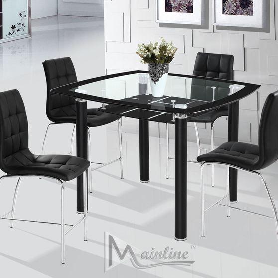 Modern 5pcs black glass designer counter set